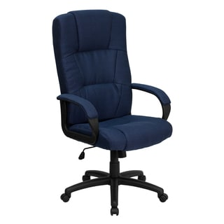 Clifton Navy Blue Woven Fabric Executive Adjustable Swivel Office Chair