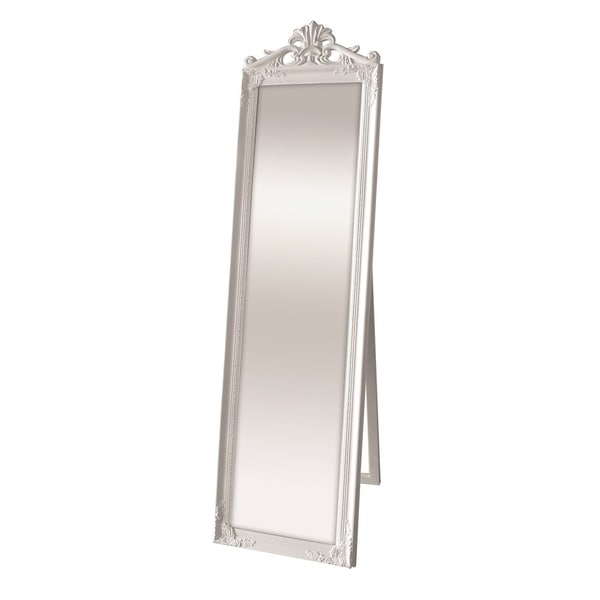 Selections By Chaumont Kensington White Cheval Mirror Antique