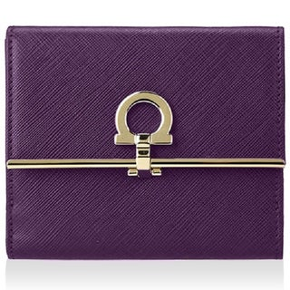 Salvatore Ferragamo French Icona Purple Wallet