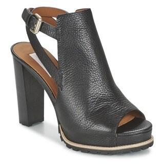 See by Chloe Black Chunky Heel Sandals