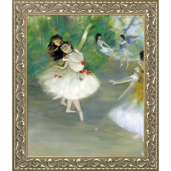 Edgar Degas 'Dancers, 1878' Hand Painted Framed Canvas Art