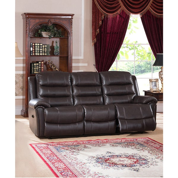 Astoria Top Grain Leather Lay-Flat Power Reclining Sofa