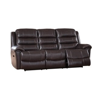 Astoria Top Grain Leather Lay-Flat Power Reclining Sofa with Memory Foam Seating