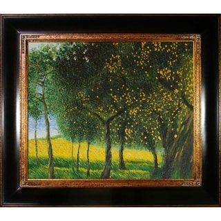 Gustav Klimt 'Fruit Trees, 1901' (Luxury Line) Hand Painted Framed Canvas Art