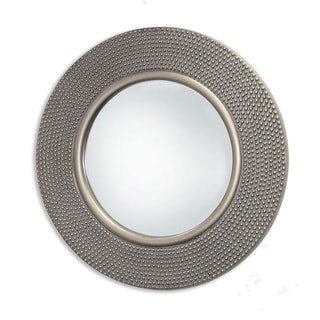 Selections by Chaumont Round Hammered Antique Silver Wall Mirror