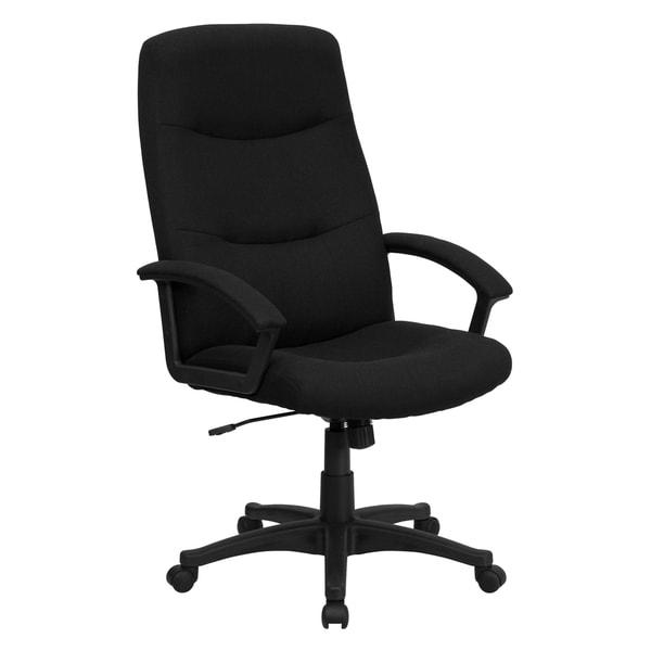 Croft Black Fabric Executive Adjustable Swivel Office Chair