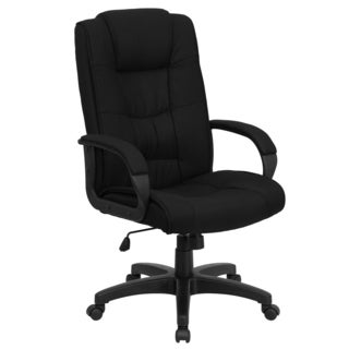 Garav Black Fabric Executive Swivel Adjustable Office Chair