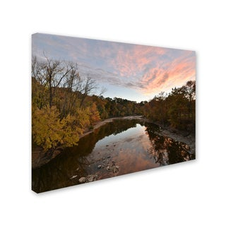 Kurt Shaffer 'Rocky River Autumn Sunset' Canvas Art