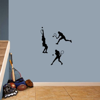 Tennis Girls Small Wall Decal Set
