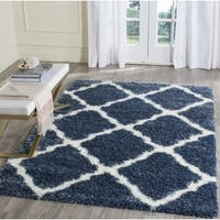 Safavieh Montreal Shag Blue/ Ivory Polyester Rug - 6'7 Square