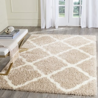 Safavieh Montreal Shag Beige/ Ivory Polyester Rug (6'7 x 6'7 Square)