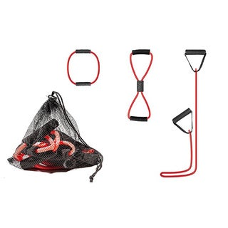 3 Pack Workout Resistance Bands Set - Exercise Fitness Tube - Stretch Gym Tube