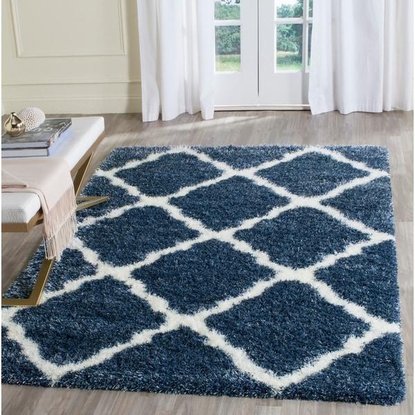 Safavieh Montreal Shag Blue/ Ivory Polyester Rug - 8' x 10'