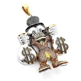 Luxurman Sterling Silver 4 1/2ct TDW Diamond Scrooge McDuck Pendant (SI1-SI2)