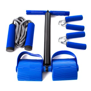 4-piece Gut Buster Tummy Trimmer Ab Workouts Machine Set with Jumrope and Hand Grips
