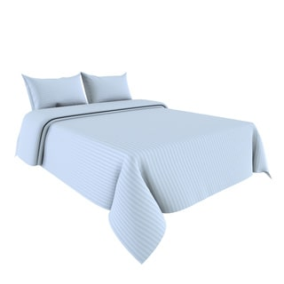 Cotton Sateen 4-piece 300 TC Dobby Stripe Sheet Set