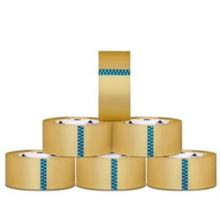 24 Rolls Clear Packing Tape 3-inch x 110 Yards 2.3 Mil with (1) Free 3-inch Tape Gun Dispenser