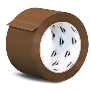 6 Rolls Brown Tan Carton Sealing Packing Tape Shipping 2.3 Mil 2-inch x 110 Yards