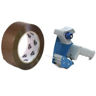 36 Rolls 2-inch x 110 Yards Tan Packing Tape 2.3 Mil with (1) Free 2-inch Tape Gun Dispenser|https://ak1.ostkcdn.com/images/products/11627947/P18562608.jpg?impolicy=medium
