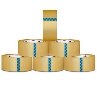 (18 Rolls) Clear Box Packing Shipping Tape 4-inch x 72 Yards 2.0 Mil Thick 18 Rls/ Cs