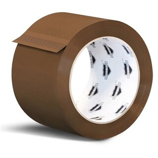 (6) Rolls Brown Tan Packing Sealing Tape - 2-inch x 1000 Yards 2 Mil