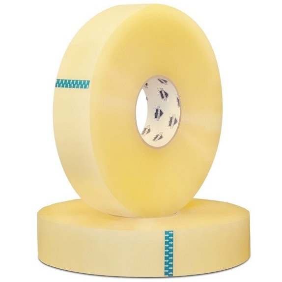 (4 Rolls) Clear Packing Tape 2-inch x 1500 Yards Machine Length Box Shipping 2 Mil