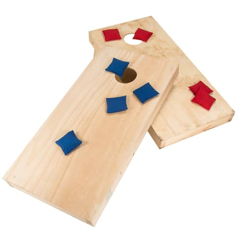 Do-It-Yourself Regulation Size Cornhole Boards and Bags - Natural Wood - 48 x 24 - Natural Wood - 48 x 24