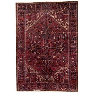 Herat Oriental Persian Hand-knotted 1940s Semi-antique Heriz Wool Rug (7'5 x 11'9)