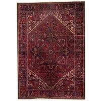 Herat Oriental Persian Hand-knotted 1940s Semi-antique Heriz Wool Rug (7'5 x 11'9) - 7'5 x 11'9