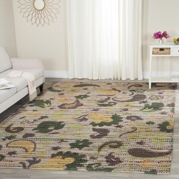 Safavieh Handmade Cedar Brook Green/ Multi Jute Rug (4' x 6')
