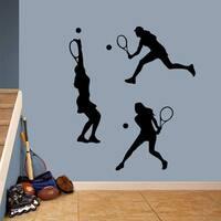 Tennis Girls Large Wall Decal Set