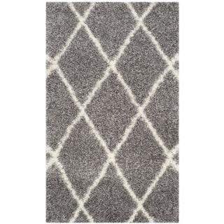 Safavieh Montreal Diamond Shag Grey/ Ivory Rug (3' x 5')