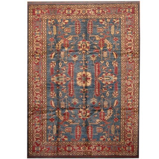 Herat Oriental Afghan Hand-knotted Tribal Kazak Wool Rug (8'4 x 11'4)