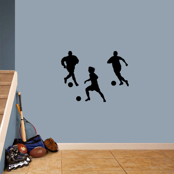 Soccer Players Small Wall Decal Set