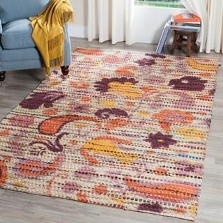 Safavieh Handmade Cedar Brook Orange/ Multi Jute Rug (4' x 6')