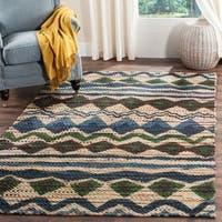 Safavieh Handmade Cedar Brook Blue/ Multi Jute Rug (4' x 6') - 4' x 6'