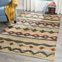 Safavieh Handmade Cedar Brook Green/ Multi Jute Rug - 4' x 6'