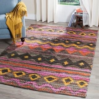 Safavieh Handmade Cedar Brook Brown/ Multi Jute Rug (4' x 6')