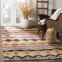 Safavieh Handmade Cedar Brook Orange/ Multi Jute Rug - 4' x 6'