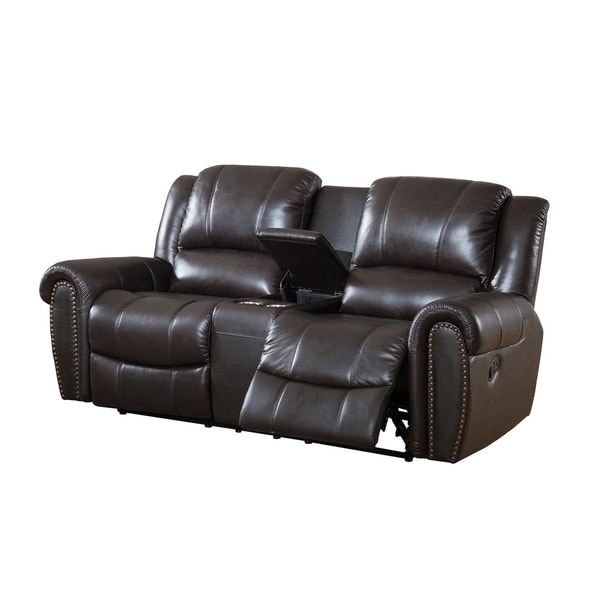 Italian Leather Sofa Charlotte Nc: Shop Charlotte Top Grain Leather Reclining Loveseat With