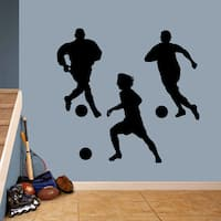 Soccer Players Large Wall Decal Set