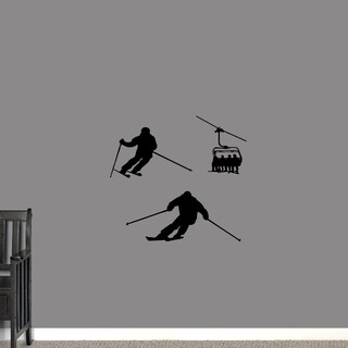 Skiing Small Wall Decal Set (More options available)