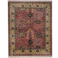 Herat Oriental Indo Hand-knotted Tibetan Wool Rug (7'9 x 9') - 7'9 x 9'