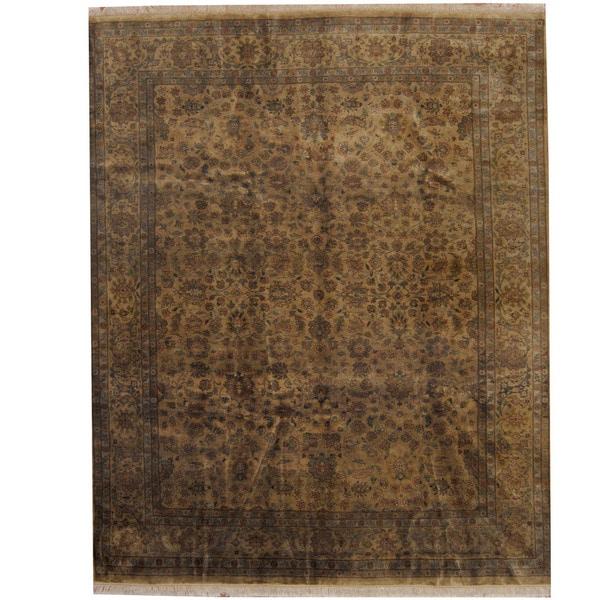 Handmade Herat Oriental Indo Tabriz Wool Rug (India) - 8'1 x 10'