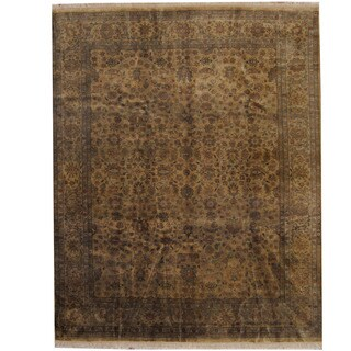 Herat Oriental Indo Hand-knotted Tabriz Wool Rug (8'1 x 10')