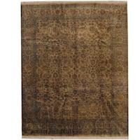 Handmade Herat Oriental Indo Tabriz Wool Rug  - 8'1 x 10' (India)