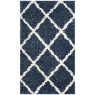 Safavieh Montreal Shag Blue/ Ivory Polyester Rug (3' x 5')
