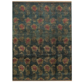Herat Oriental Indo Hand-knotted Tibetan Wool Rug (9'1 x 12')