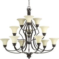 Progress Lighting P4654-20 Applause Twelve-light 3-tier Chandelier