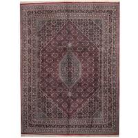Handmade Herat Oriental Indo Bidjar Wool Rug  - 9' x 12' (India)